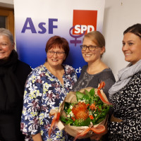 Petra Volkwein, Kerstin Lang, Patrice Raies und Stefanie Wunder (v.l.n.r.)