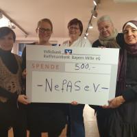 Olga Paul (NefAS), Patrice Raies (SPD-Frauen), Kerstin Lang (SPD-Frauen), Petra Volkwein (SPD-Frauen), Linda Qasem (NefAS)